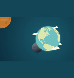 Collection earth day with world vector