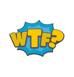 comic boom wtf icon flat style vector image
