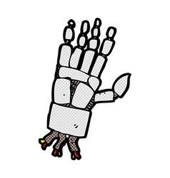 Comic cartoon robot hand vector