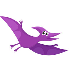 Cute and funny smiling baby pterodactyloidea vector