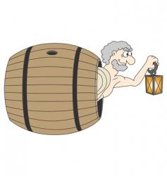 Diogenes greek philosopher vector