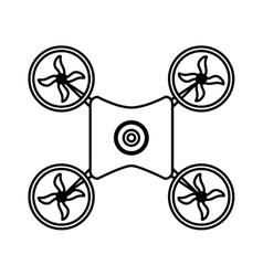Drone robot technology vector