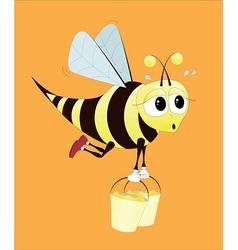 hard working bee vector image vector image