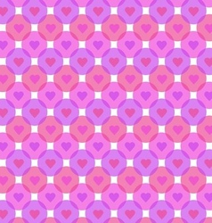 Hearts bubbles pattern on white background vector
