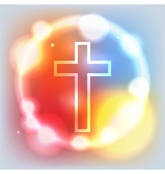 Holy Cross Glowing vector image vector image