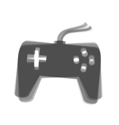Joystick simple sign gray icon shaked at vector