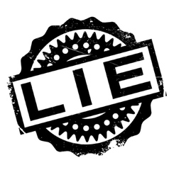 Lie rubber stamp vector