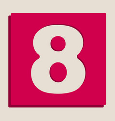 Number 8 sign design template element vector