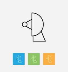 Of weather symbol on sputnik vector