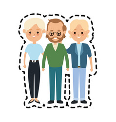 people or family members icon image vector image