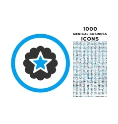 Premium Rounded Icon with 1000 Bonus Icons vector image vector image