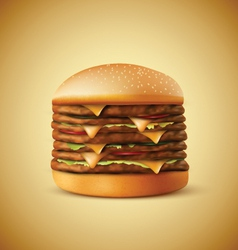 Realistic burger vector image vector image