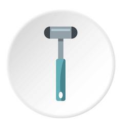 Reflex hammer icon circle vector