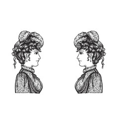 retro women speaking vector image vector image
