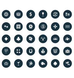 Set of simple casino icons vector