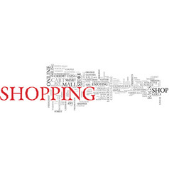 Shop word cloud concept vector