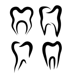 teeth set of symbols vector image
