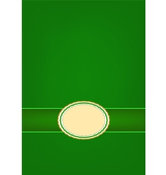 Round Label Pattern with A Green Background vector image