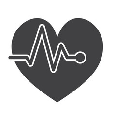 Ecg or electrocardiography icon vector