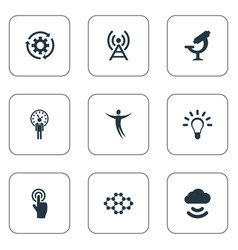 Set of simple invention icons vector