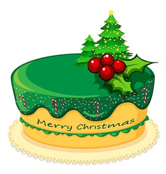 A cake for christmas vector
