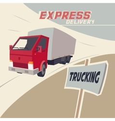 Truck express delivery vector