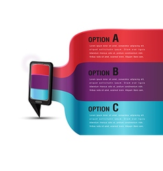 Mobile presentation template modern color vector