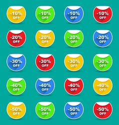 Saving badges vector image
