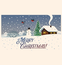 Merry christmas winter landscape vector