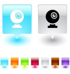 webcam square button vector image