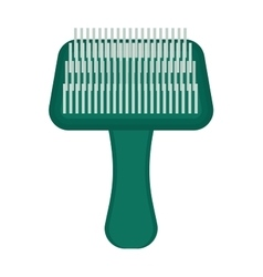 Pet brush grooming animal hair wool comb handle vector