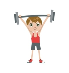 Young weight lifter vector