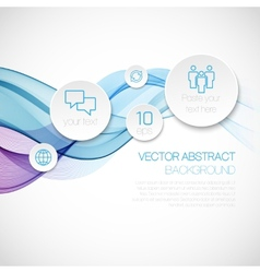 A wave of smoke infographics background vector image vector image