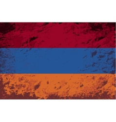 Armenian flag Grunge background vector image vector image
