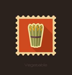 Asparagus flat stamp vegetable vector