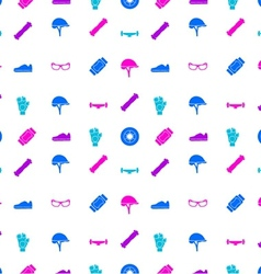 background for accessories for longboarders vector image
