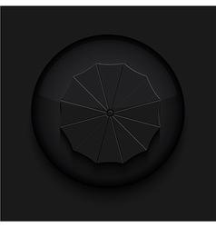 black circle iconEps10 vector image vector image