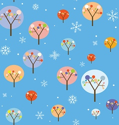 Christmas seamless pattern with trees and vector image vector image