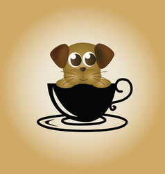 dog logo coffee vector image