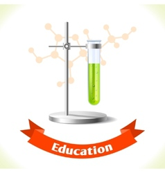 Education icon test tube vector