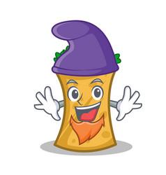 Elf kebab wrap character cartoon vector