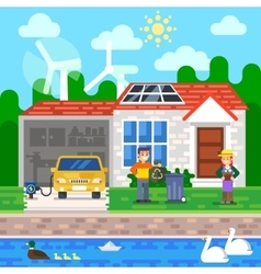 Environmentally friendly world ecology earth day vector image