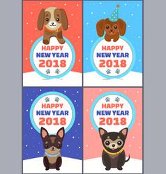 Happy new year 2018 congrats vector