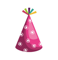 hat party isolated icon vector image vector image