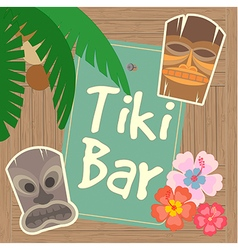 Hawaii Tiki Bar Poster vector image vector image
