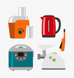 Home appliances cooking kitchen home equipment and vector