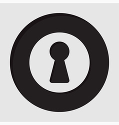 Information icon - keyhole vector