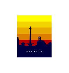 Jakarta city logo template vector