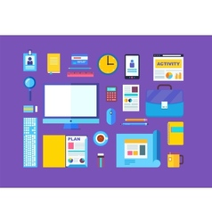 Modern design flat icon collection concept in vector image