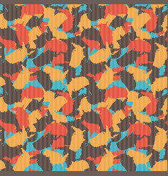 Original usa shape camo seamless pattern colorful vector